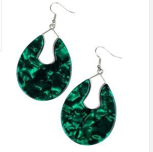 Pool Hopper Green Acrylic earrings